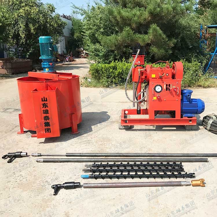 Grouting reinforcement drill